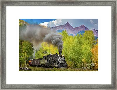 Huffing And Puffing Framed Print