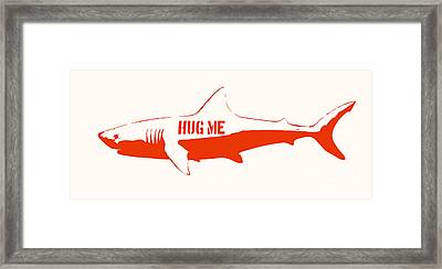 Hug Me Shark Framed Print by Pixel Chimp