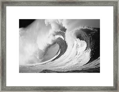 Huge Curling Wave - Bw Framed Print by Ali ONeal - Printscapes