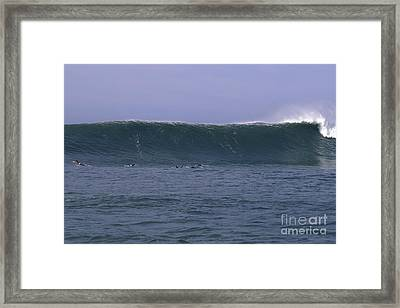 Framed Print featuring the photograph Huge Mavericks Wall by Stan and Anne Foster