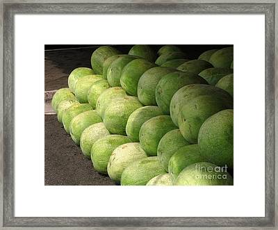 Huge Watermelons Framed Print by Yali Shi