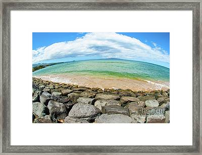Framed Print featuring the photograph Huge Wikiki Beach by Micah May