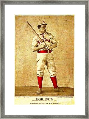 Hugh Duffy Boston Red Sox 1895 Framed Print