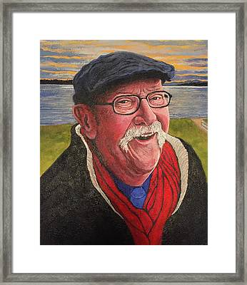 Framed Print featuring the painting Hugh Hanson Davidson by Tom Roderick