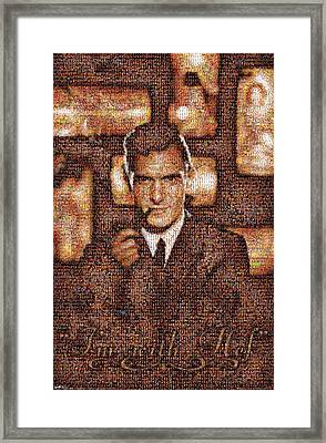 Hugh Hefner Framed Print by Denis Chaschyn