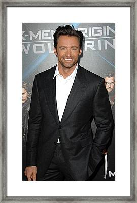 Hugh Jackman At Arrivals For L.a Framed Print by Everett