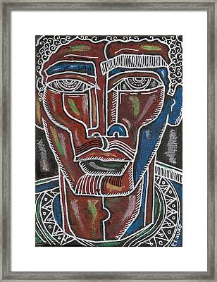 Hughes Blues One Framed Print by Perrion Hurd