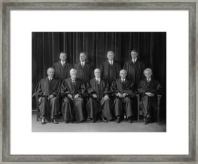 Hughes Court. United States Supreme Framed Print