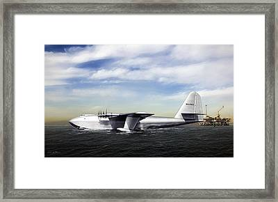 Hughes H-4 Hercules Framed Print by Peter Chilelli