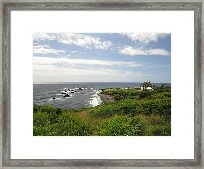 Huialoha Church, Kaupo, Maui Framed Print