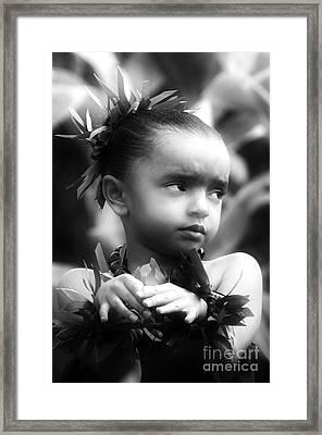 Hula Angel Framed Print