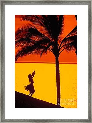 Hula At Sunset Framed Print by Ron Dahlquist - Printscapes