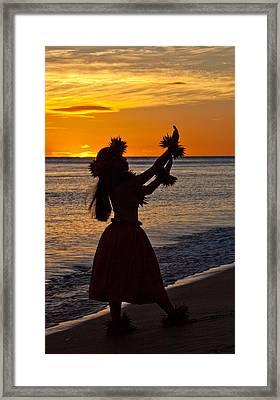 Hula Dancer Framed Print