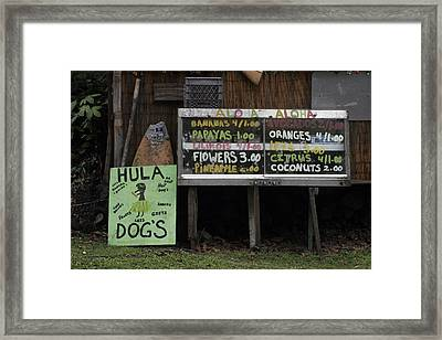 Hula Dogs Framed Print