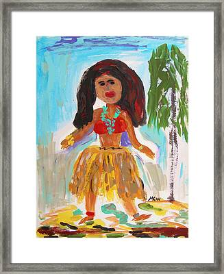 Hula Girl Framed Print by Mary Carol Williams