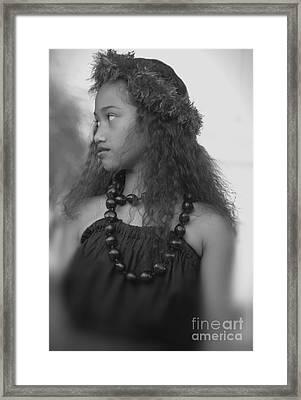 Hula Girl Framed Print by Uldra Johnson