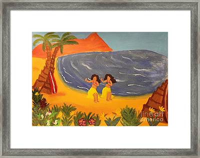 Hula Girls Framed Print