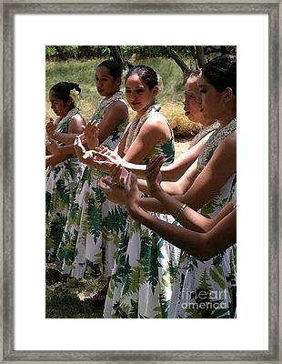 Hula Hands Framed Print by James Temple