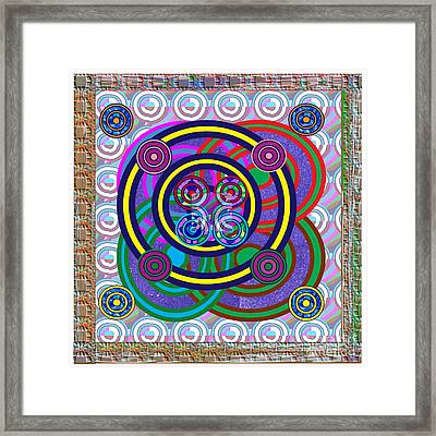 Hula Hoop Circles Tubes Girls Games Abstract Colorful Wallart Interior Decorations Artwork By Navinj Framed Print
