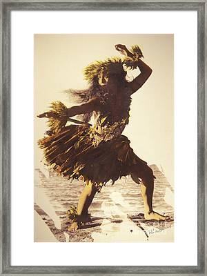 Hula In A Ti Leaf Skirt Framed Print