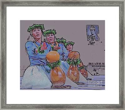 Hula Ipu Heke Framed Print by Craig Wood