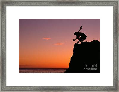 Hula On A Cliff Framed Print