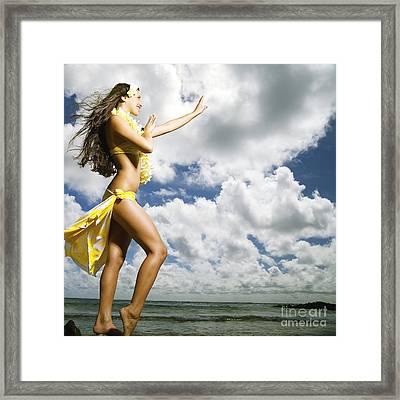 Hula On Kauai Framed Print