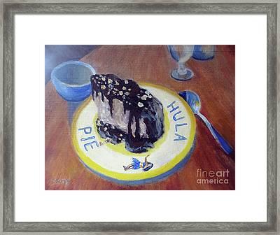 Hula Pie Ice Cream Dessert Framed Print
