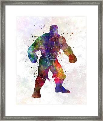 Hulk 01 In Watercolor Framed Print