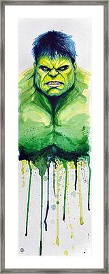 Hulk Framed Print by David Kraig