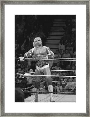 Hulk Hogan The Champion Framed Print by Bill Cubitt