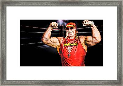 Hulk Hogan Wrestling Collection Framed Print by Marvin Blaine