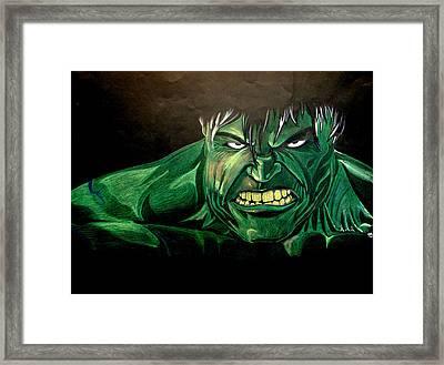 Hulk Framed Print by Marcus Quinn