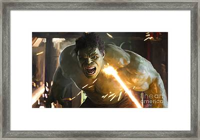 Hulk Framed Print by Paul Tagliamonte