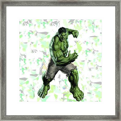 Framed Print featuring the mixed media Hulk Splash Super Hero Series by Movie Poster Prints