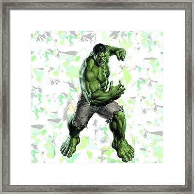 Hulk Splash Super Hero Series Framed Print