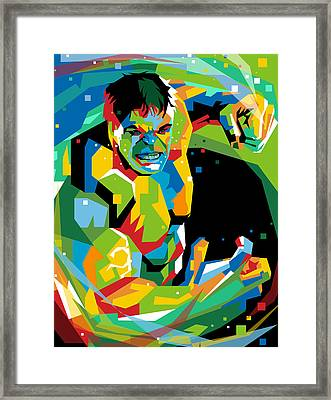 Hulk The Hero Framed Print