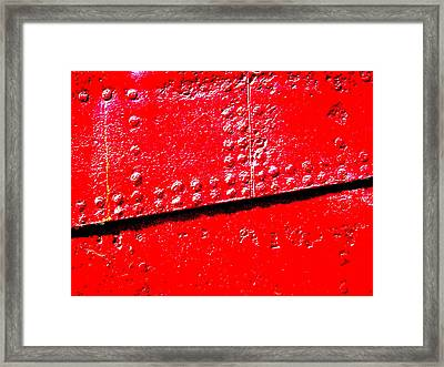 Hull Plate Abstract Enhanced Framed Print