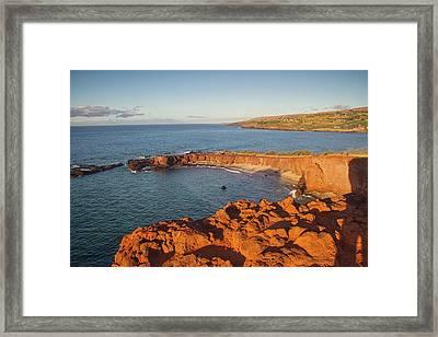 Hulopoe Beach Sunrise Framed Print