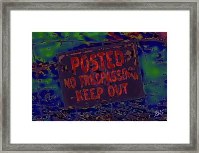 Human Barriers To The Subsconscious Framed Print by Gina O'Brien