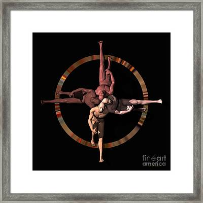 Human Cross Framed Print by Walter Oliver Neal
