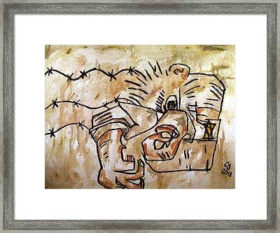 Human Dipole After Ben Shahn Framed Print by Charlie Spear