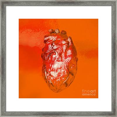 Human Heart In Digital Art Framed Print by Jorgo Photography - Wall Art Gallery
