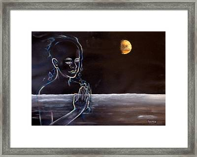 Human Spirit Moonscape Framed Print by Susan Moore