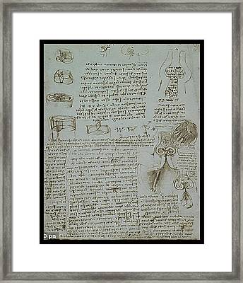Framed Print featuring the painting Human Study Notes by James Christopher Hill