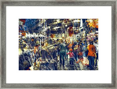 Human Traffic Framed Print