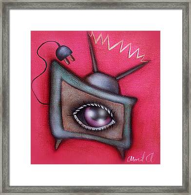 Human Tv Framed Print by  Abril Andrade Griffith