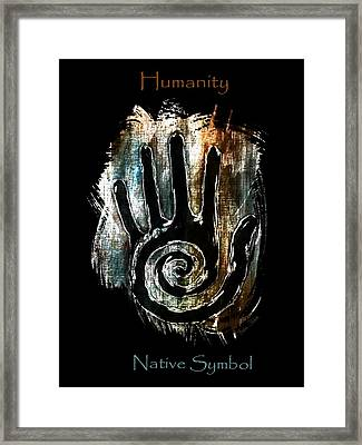 Humanity Native Symbol Framed Print