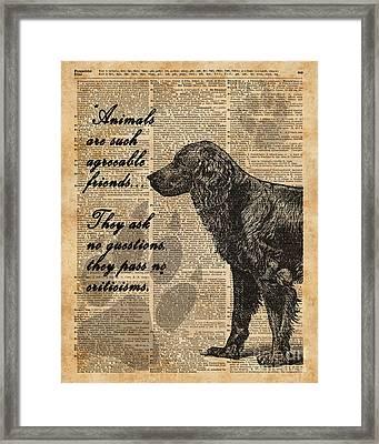 Human's Best Friend Framed Print by Jacob Kuch