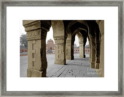 Humayans Tomb - Delhi India Framed Print by Craig Lovell